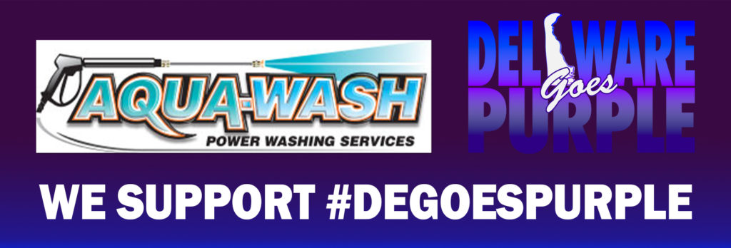 Aqua Wash supports #degoespurple